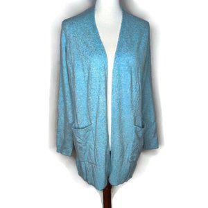 LOFT Super Soft Light Blue Open Cardigan NWT